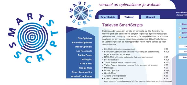 Logo en basis website smartscripts.nl